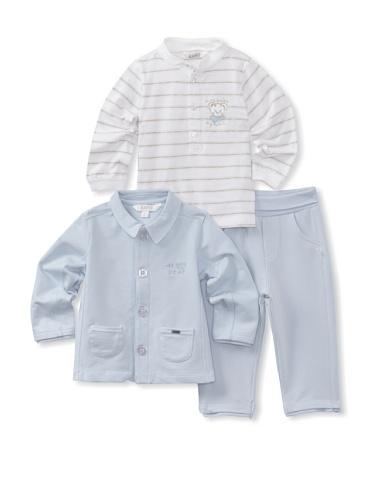 KANZ Baby 3-Piece Knit Set (Blue)