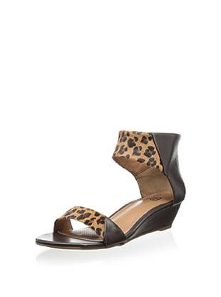 Ciao Bella Women's Whitney Demi Wedge Sandal (Coffee/Leopard)
