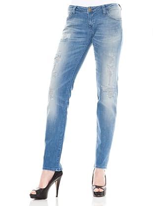 Calvin Klein Jeans Vaquero Stretch (Azul Medio)