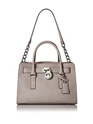 MICHAEL Michael Kors Women's Hamilton East/West Satchel, Pearl Grey