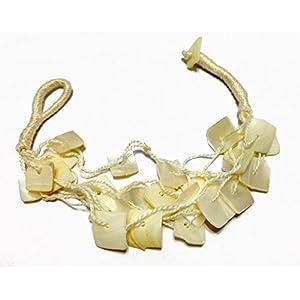 Meena India Shell Multi-Strand Bracelet For Women -White