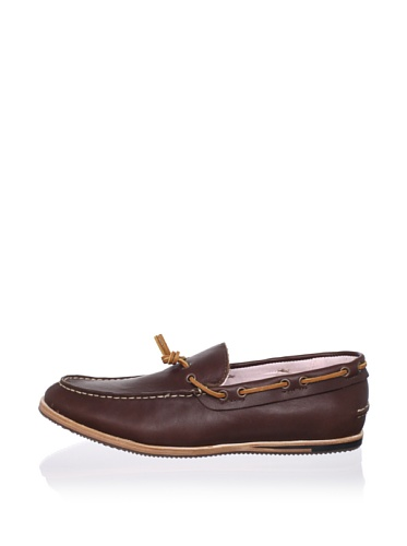 Ben Sherman Men's Alex Boat Shoe (Dark Brown)