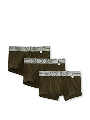 2(x)ist Men's Military No-Show Trunk 3-Pack (Army)