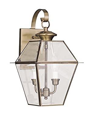 Crestwood Wanda 2-Light Wall Light, Antique Brass