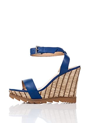 Bronx Sandalias Rafia (Azul Royal)