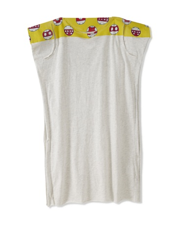 kicokids Girl's Ladybug Graphic 2-D Tank Dress (Milk/Citrus)