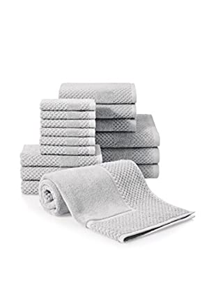 Chortex Honeycomb 16-Piece Towel Set, Silver