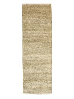 Darya Rugs Modern Oriental Rug, Olive, 3' x 9' 2