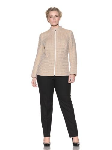 Z from Zenobia Women's Plus Zip-Front Wool Jacket (Goldenrod)
