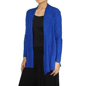Feerol Fashions Velvet Blue Medium Cardigan