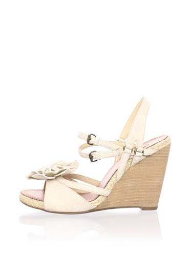 MaxStudio Women's Soloman Wedge Sandal (Vapore)