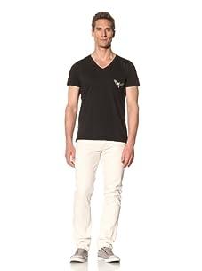 Tee Library Men's Moth V-Neck T-Shirt (Black)