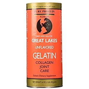 Great Lakes Unflavored Gelatin Kosher 16 Ounce Can 1 lbs AD