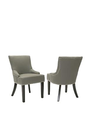 Safavieh Set of 2 Lotus Side Chairs, Sea Mist