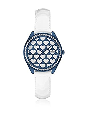 Guess Uhr mit japanischem Mechanikuhrwerk Woman Love blau 36.5 mm