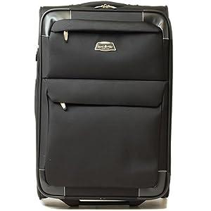 【クリックで詳細表示】容量拡張ソフトキャリーケース・TSA南京錠(約3~5泊)[機内持込]キャリーバック・AYS1-20 (ブラック)