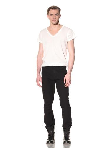 SPURR Men's Slim Black Jean (Black)