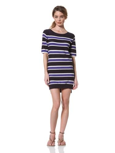 Whit Women's Striped Dress (Navy/Cobalt)