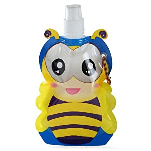 Mom Italy Kiddy Foldable Butterfly  Water Bottle