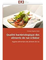Qualite Bacteriologique Des Aliments de Rue a Dakar