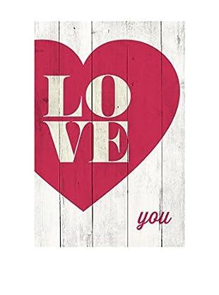 Panel Decorativo Love You