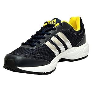 Adidas Men's Phantom M Dark Blue and Yellow Mesh Running Shoes - 11 UK