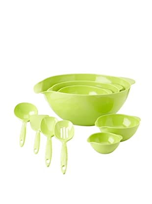 Reston Lloyd 5-Piece Bowl and 4-Piece Utensil Set (Lime)