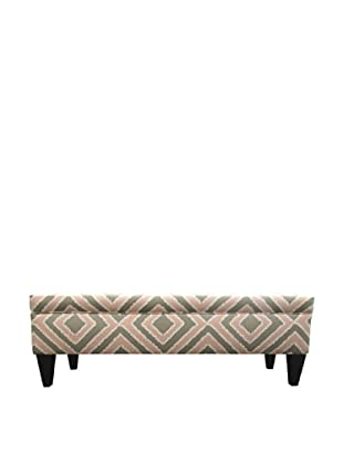 Sole Designs Brooke 10 Button Tufted Storage Bench, Nouveau Blush
