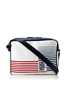 French Connection Men's Inflight Print Bag (White/Darkest Blue/Racer)
