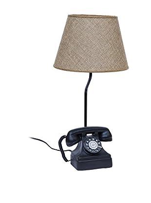 Novità Home Tischlampe Old Telephone schwarz/natur