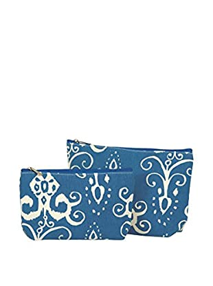 Rock Flower Paper 2-Piece Roussillion Cosmetic Bag Set, Navy