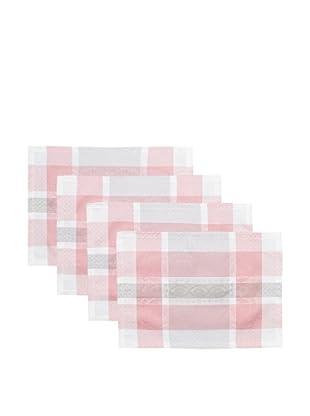 Garnier-Thiebaut Set of 4 Mathilde Placemats, Rose