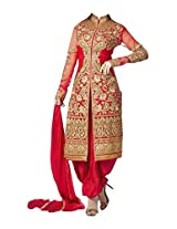Fabboom New Exclusive Heavy Red Gorgeous Salwar Suits