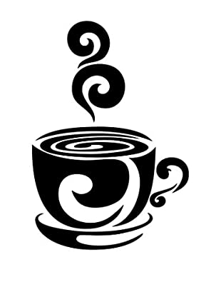 Ambiance Sticker Wandtattoo Design Cup Of Hot Coffee