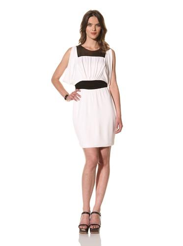 Cut25 Women's Matte Jersey Sequin Dress (Optic/Gold Sequins)