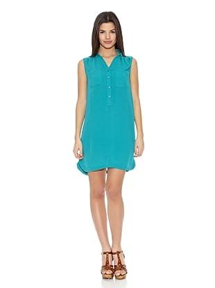 Springfield Vestido Poli Shirtwaist Dress (Aguamarina)