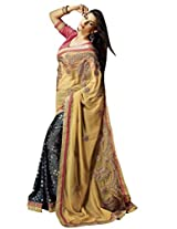 Manvaa Pretty Multicolor saree with blouse piece