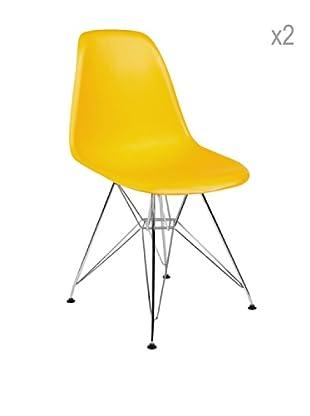 Lo+deModa Set De 2 Sillas Tower Color Edition Naranja