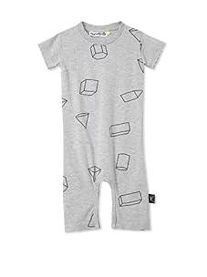 NUNUNU Baby Geometry Play Suit (Heather Grey)