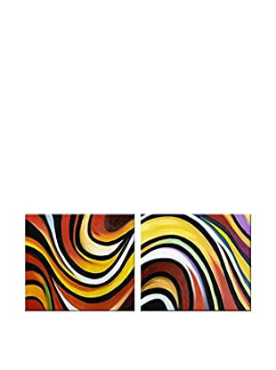 Legendarte Set Pintura al Óleo sobre Lienzo 2 Uds. Colori Africani