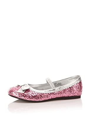 L'Amour Shoes Sparkle Mary Jane Flat (Toddler/Little Kid) (Fuchsia)
