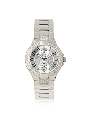 GUESS Women's W12638L1 Prism Silver-Tone Stainless Steel Watch