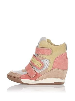 Ash Zapatillas de Cuña Alex (Beige / Rosa)