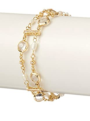 Ettika Chain & Crystal Ladder Bracelet with Pearl