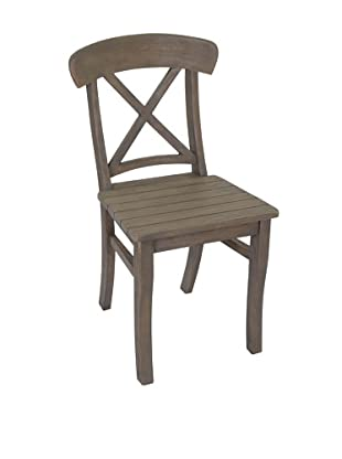 Jeffan Luxe Wood Side Chair, Grey