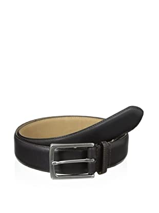 John Varvatos Star USA Men's 32 mm Feather Edge Stained Strap Belt (Brown)
