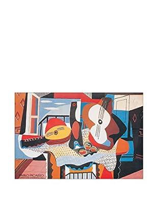 ArtopWeb Panel de Madera Picasso Mandolino E Chitarra, 1924 - 60x90 cm