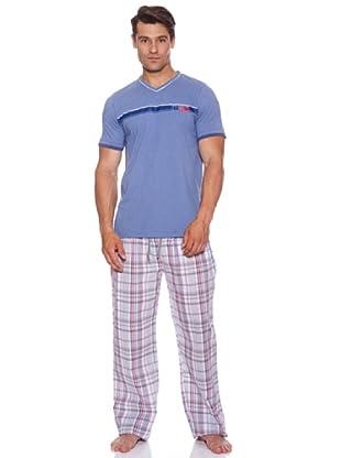 Basket Pijama Crob.C\Pico Estampado (Azul)