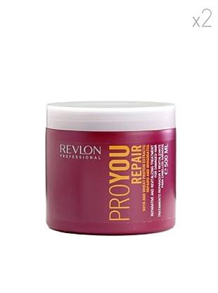 Revlon  Set 2 Pro Tratamientos Reparador Extracto Soja Proteína de Trigo 500  ml