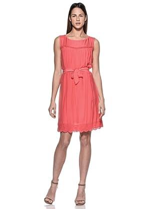 Crema Vestido Charleston (Coral)